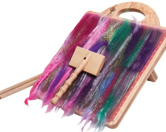 Ashford Blending Board + Bonus fiber! Make art rolags for felting and spinning.