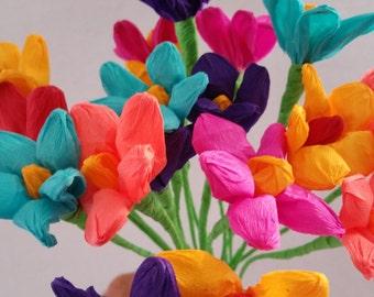 mexican paper flowers cinco de mayo 10 crepe paper flowers dia de los - Fiesta Decorations