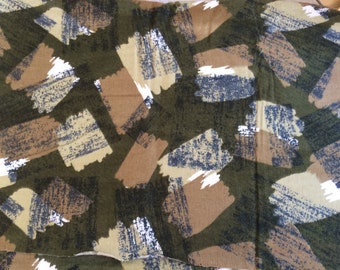 Organic cotton flannel fabric military green printed vintage cotton for patchwork sewing DIY projects