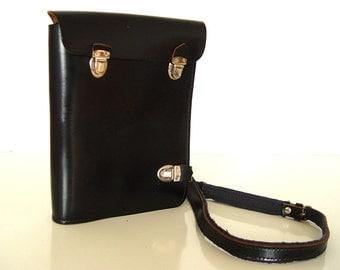 Vintage Leather Bag. Leather Map Bag.