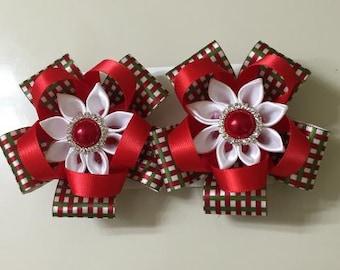 christmas Hair clips - Handmade