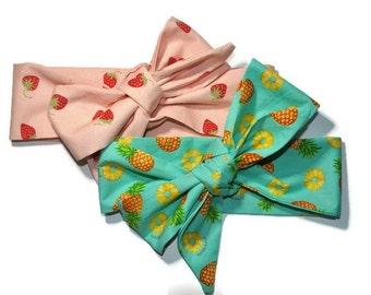 Pineapple Head Wrap Etsy