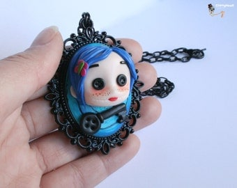Coraline cameo necklace.