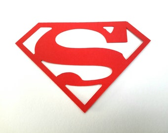 10 Large 'Superman' Logo Die Cuts for Children's Cards Craft Card making Scrapbooking