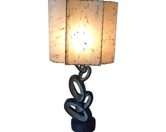Mid Century Lamp with Fiberglass Shade