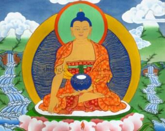 Buddha magnet, fridge magnet, Buddhist paintings, Thangka, Buddha, oriental magnet, hand painted magnet, Thangkame, magnet set