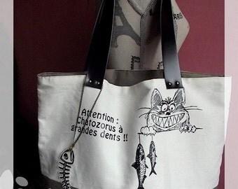 Tote Bag ''chatozorus largetooth''