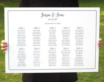 Classic Modern Wedding Seating Chart - Printable