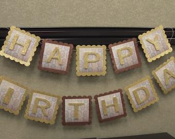 Michael Kors Inspired Birthday Banner