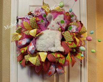 Easter Wreath, Easter Bunny Wreath, Spring Wreath, Outdoor Easter Wreath