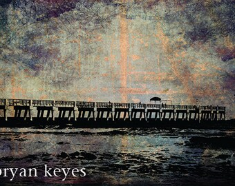 Lake Worth Pier photograph 8x10 matted print