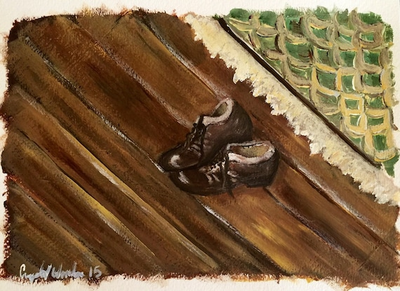 "ORIGINAL ART: ""My husband's shoes"""
