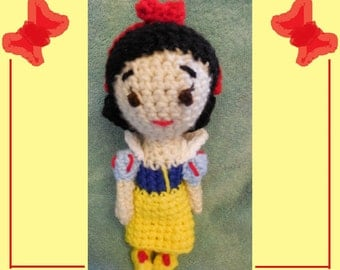 Crochet Princess Doll Inspired By Snow White