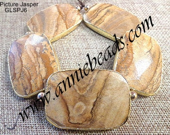 Natural Picture Jasper w/Gold Lining !!!!