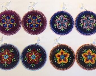 Beaded Floral Earrings