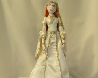 Medieval Cloth Doll with doll stand