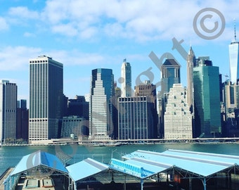 SALE 50% off Manhattan Skyline A4 print New York digital download