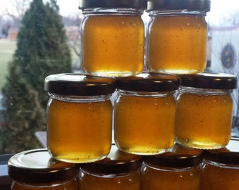 36 honey undecorated jars, 1.5oz local honey, metal lid gold, black, or white, love is sweet, meant to bee