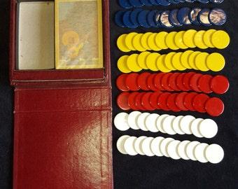 Vintage poker chip set - circa 1940s
