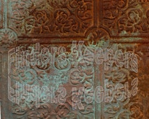 Antique Ceiling Tile - Instant download of two high resolution textured jpeg images.  Print for Decoupage DIY  Instant Art