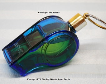 Vintage Avon Bottle - Big Whisle 1972
