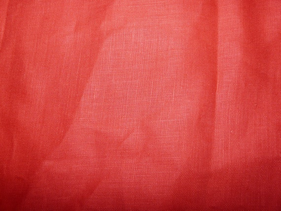 Clearance Red Linen Remnant 125cm One Piece