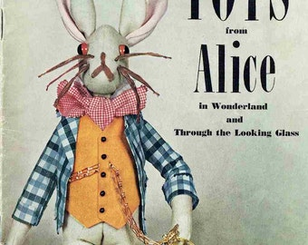 Toys from Alice in Wonderland vintage toy sewing pattern PDF instant download
