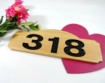 Wood Address Plaques House Address Numbers Home Address Sign Routed Engraved Cedar Wood Custom Personalized Black Painted Numbers Outdoor
