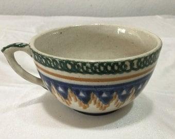 Antique German Pottery Cup  primitave Germany