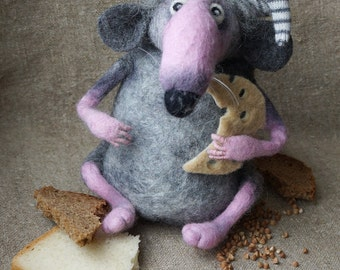 Mouse felted