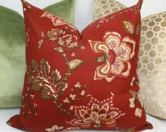 """Burgundy floral decorative throw pillow cover. 18"""" x 18"""". 20"""" x 20"""". 22"""" x 22"""". 24"""" x 24"""". lumbar sizes"""