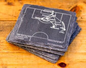 Sporting KC Greatest Plays - Slate Coasters (Set of 4)