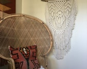 Evelyn // Macrame Wall Hanging on Driftwood
