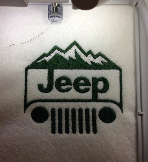 Jeep mountain edition digital embroidery design by