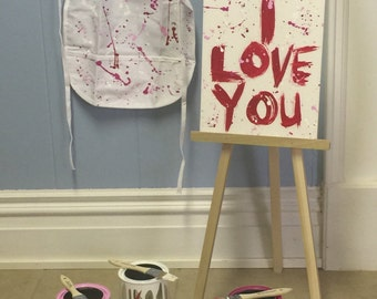 Valentine artist paint can photography prop set