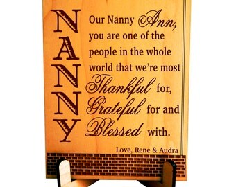 Custom Nanny Gift,Gift for our Sweet Nanny,Birthday Gift For Nanny,NannyMothers day Gift,Nanny Birthday Gift,Babysitter Gift,Greatest Nanny!