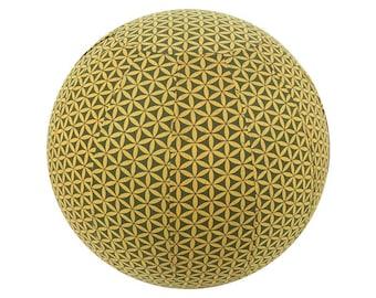 65cm Yoga Ball Cover, balance ball cover, exercise ball cover, fitness ball cover - Olive Flower of Life Print