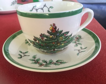 REDUCED! Spode Christmas Tree S 3324 M cup and saucer