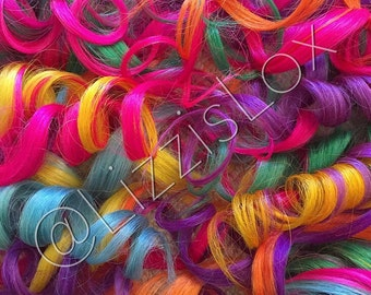 "20"" Clip-in Extensions RAINBOW 100% REMY Human Hair AAA grade Unicorn 100 / 150 / 200 / 250 / 300 grams"