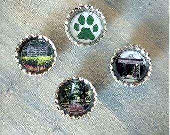 Ohio University Set of 4 Magnets // Home Decor // OU//Wedding Gift//Hostess Gift