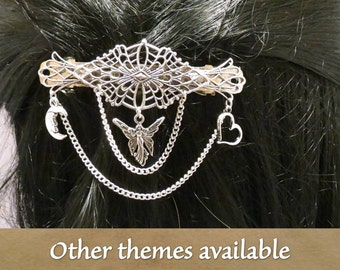 Shakespeare 80 mm filigree barrette with the theme of your choice.