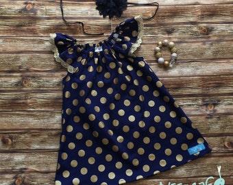 Baby/girls flutter sleeve Mia Dress. Sequin trim on flutters