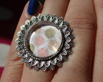 Polka Dots Adjustable Ring