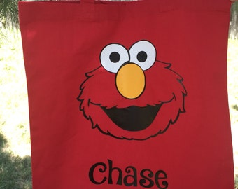 Customized Totes/Trick or Treating  Bag (Elmo)