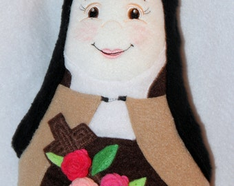 St Therese Soft Saint Doll, Nun Doll, Saint Therese of Lisieux, The Little Flower Plush Doll, Catholic Saint dolls, Soft Dolls, Catholic toy