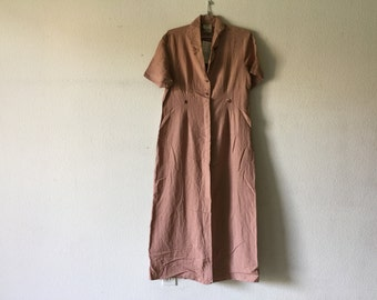 FREE SHIPPING - Vintage 80s Long Maxi Dress
