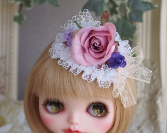 Sale! Blythe Hair accessory - Rose Garden - hand made outfit.