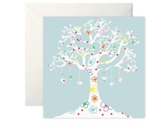 Love Tree Greetings Card