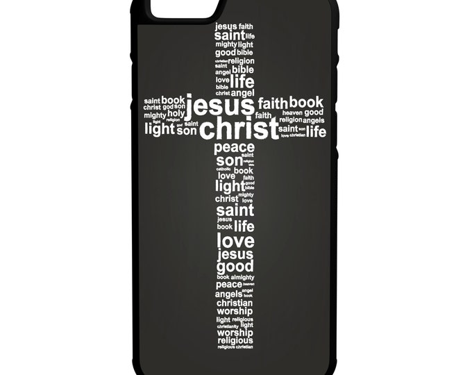Faith Cross Christian Words iPhone Galaxy Note LG HTC Hybrid Rubber Protective Case