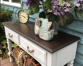 FLASH SALE!!! Vintage Farmhouse SERVER Buffet Sideboard Media Cabinet French Country Cottage - Beach Chic - Rustic - Coastal